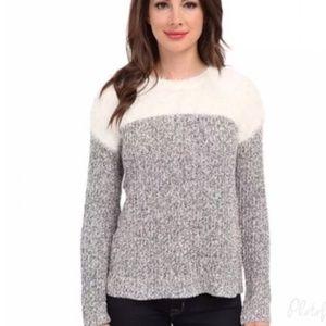 {M} Vince Camuto Eyelash and Marled Sweater